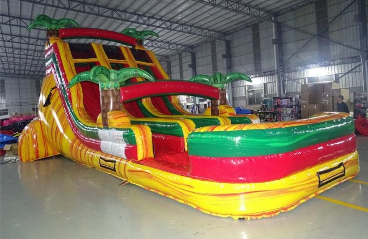 18ft Dual Lane Hybrid Waterslide