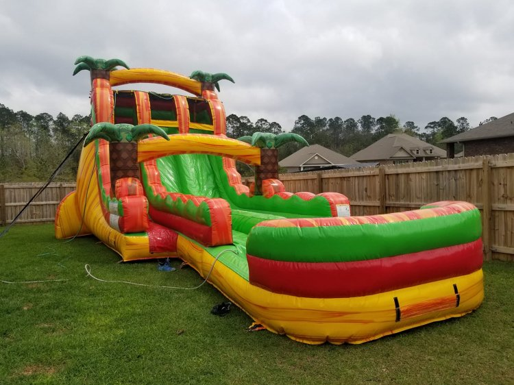 19ft Dual Lane Hybrid Waterslide